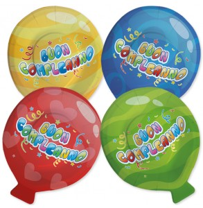 8 piatti mix balloon 20x25cm