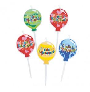 5 candeline balloon 8cm