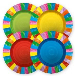 8 piatti arcobaleni