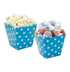 6 sweety box pois turchese